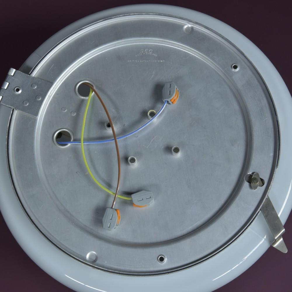 GEC Domed Opaline Lights -32cm Diameter