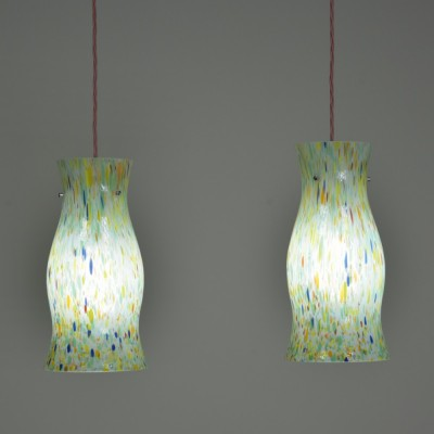 Colourful Murano Pendants - pair