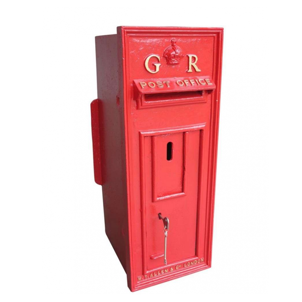 Old Cast Iron Wall Mounted Original George 5th Post Box