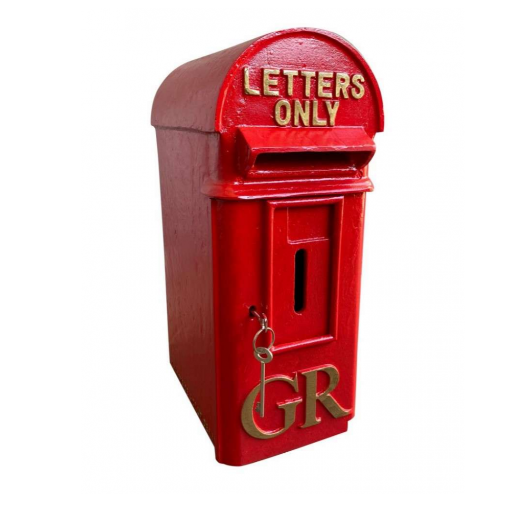 GR Cast Iron Pole Mounted Royal Mail Letter Post Box - George 5th