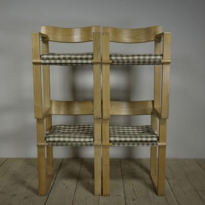 Vintage Ash Armchairs x4
