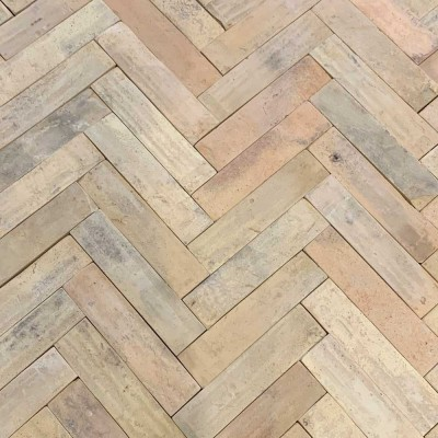Reclaimed terracotta parquet tiles