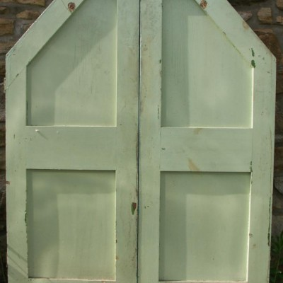 set of victorian pine cupboard doors
