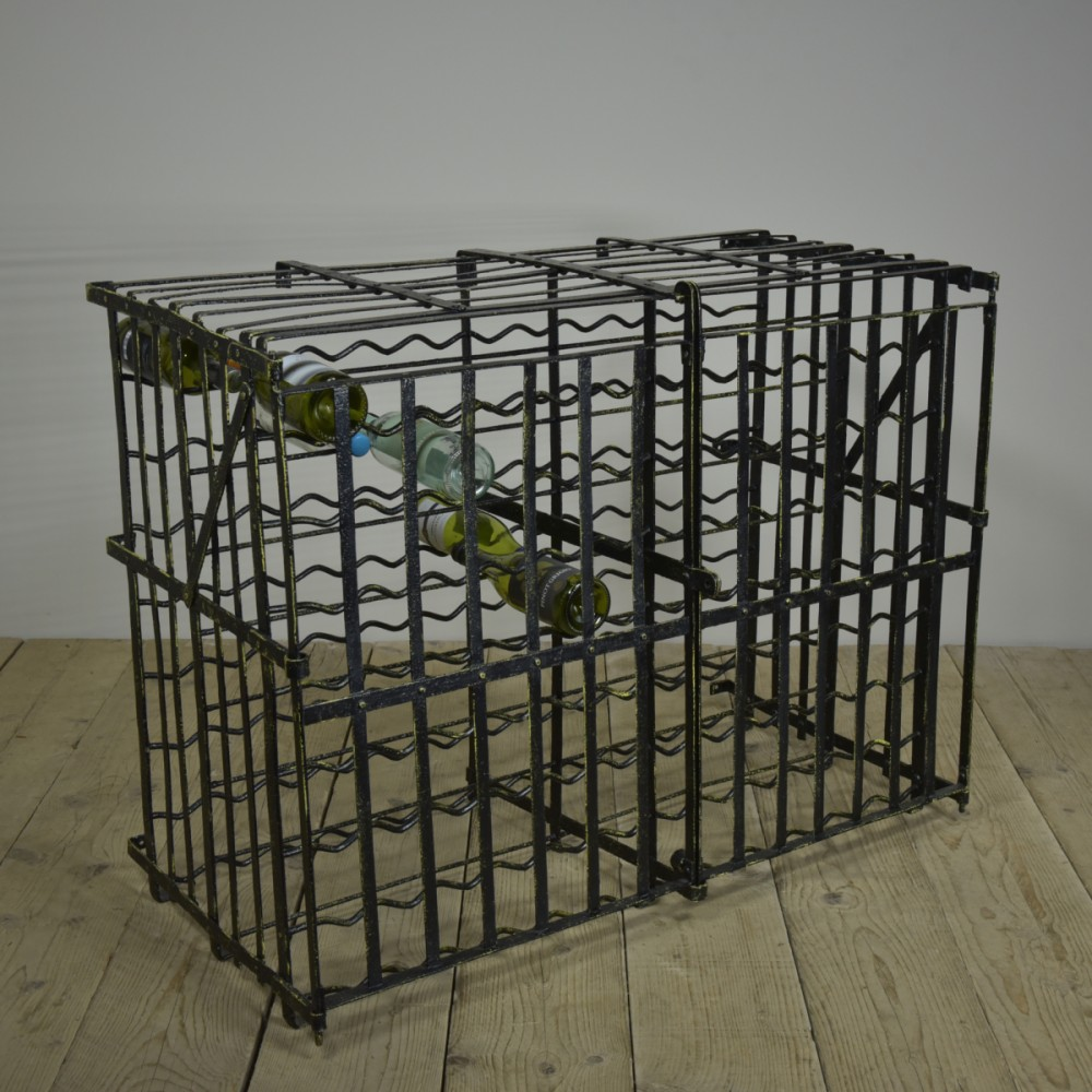 Antique Wine Rack - Wrought Iron x192 Bottle