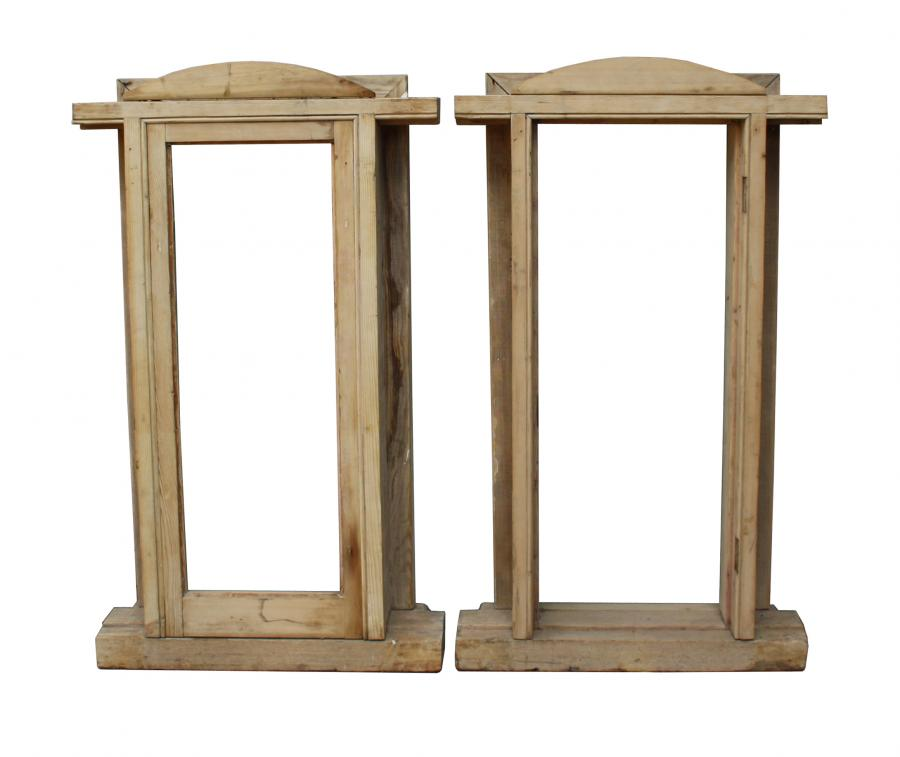 For Sale A pair of reclaimed stripped pine window frames- SalvoWEB UK