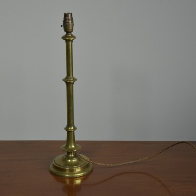 Brass Table Lamp - Knopped Stem