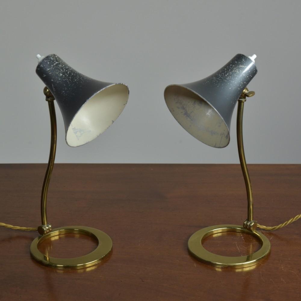 Pair Bruno Chiarini Lamps - Bedside