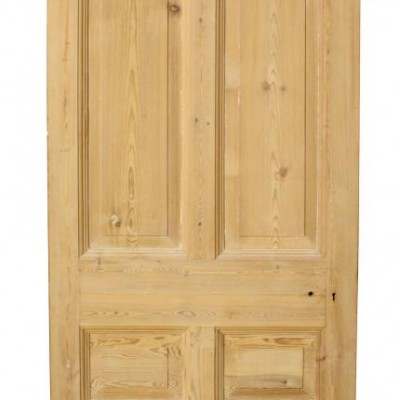 A good quality stripped pine Edwardian front door