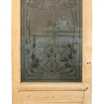 A Victorian etched glass front door