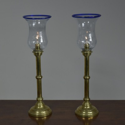 Spring-Loaded Candlesticks with Storm Shades