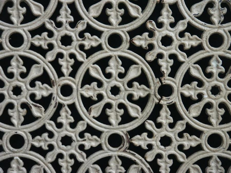 victorian cast iron screen panel
