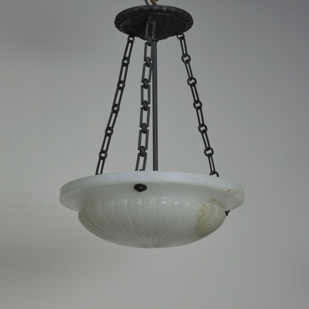Alabaster Bowl Ceiling Light