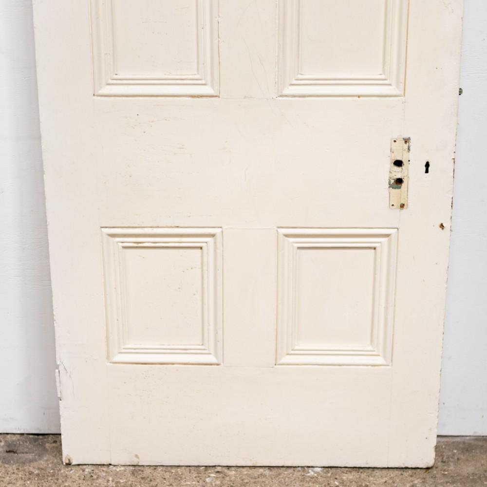 Antique Victorian Panelled Door  - 206cm X 85cm