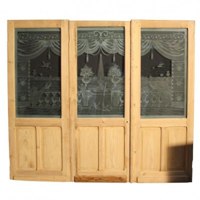 A superb 19thC. French room divider / dividing doors