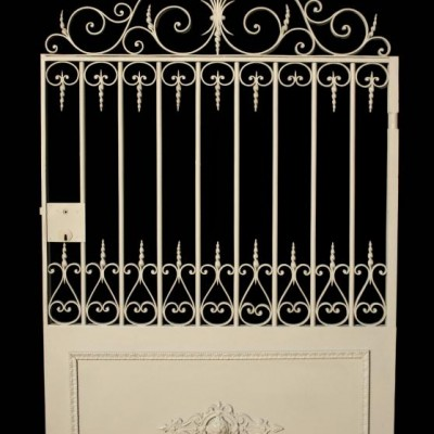 A French wrought iron pedestrian gate