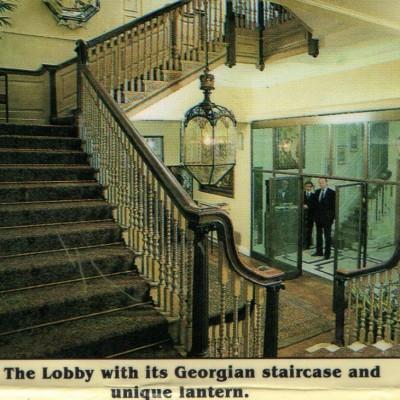 A grand Georgian style staircase C. 1900