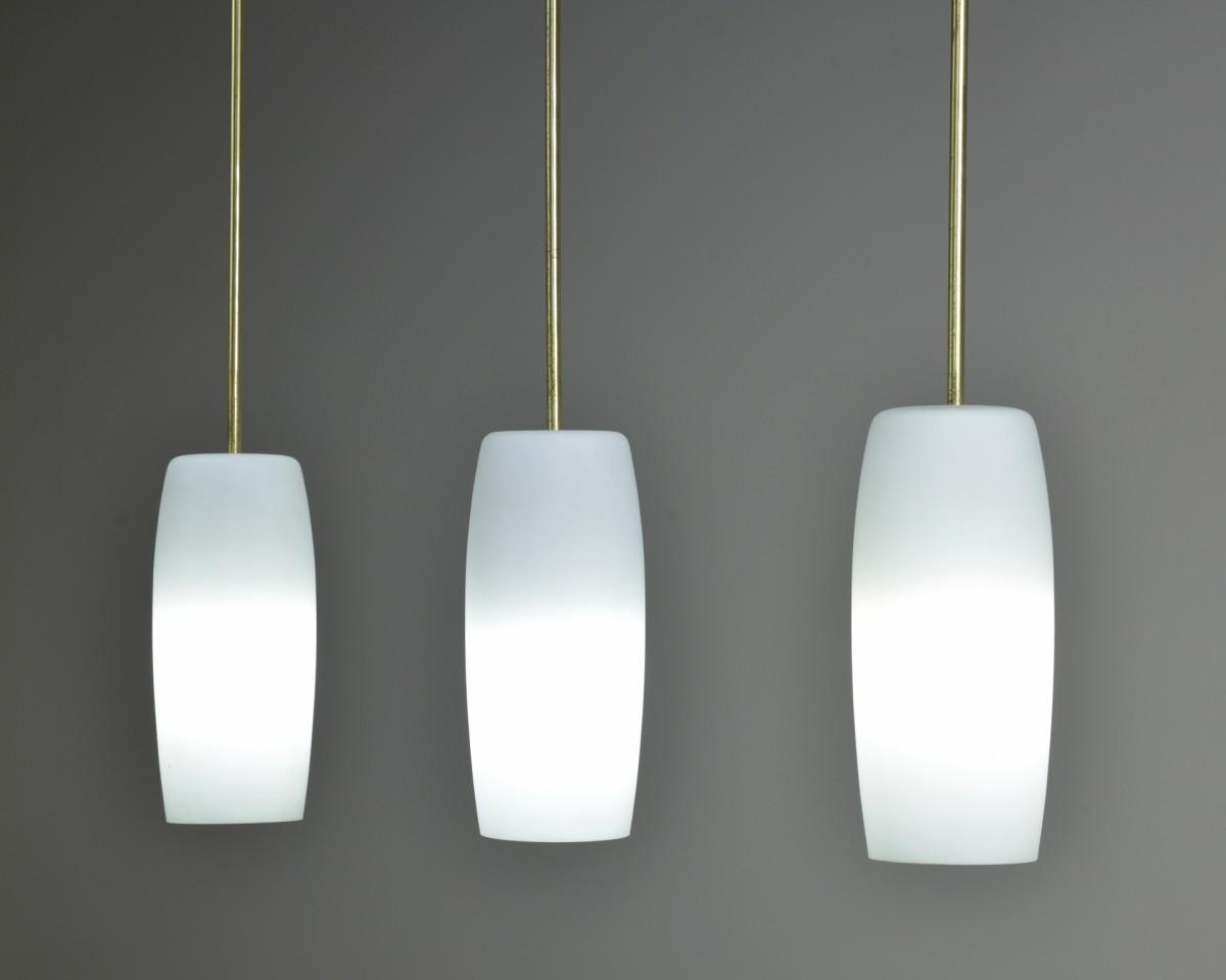Brass Stemmed Opal Lights