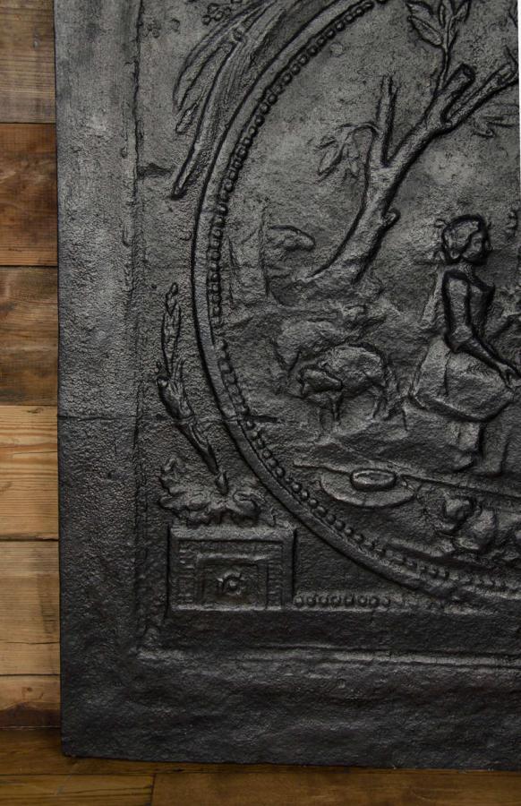 Antique Georgian Cast Iron Fireback