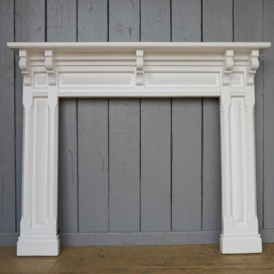 Victorian Mahogany Hand Painted Fire Surround - Nearly 6ft Wide
