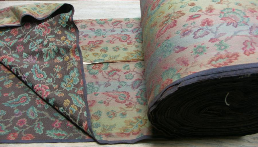 large roll antique floral material