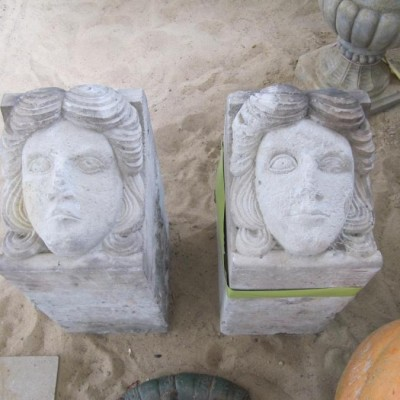 Sandstone heads from Dresden