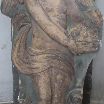Angel: architectural ceramic, 1860 Prussia - Ange en céramique