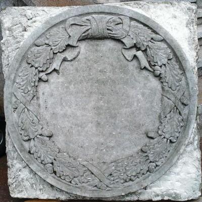 Army office relief plates sandstone, Dresden - Blason