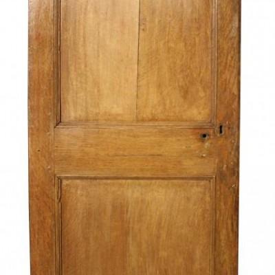 An 18th Century oak two panel door