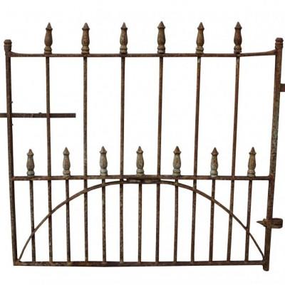 A wrought iron side / pedestrian gate