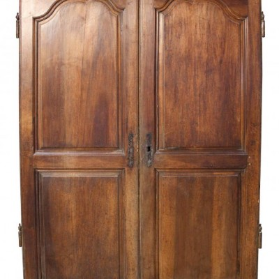 Pair of 18th C French walnut cupboard doors