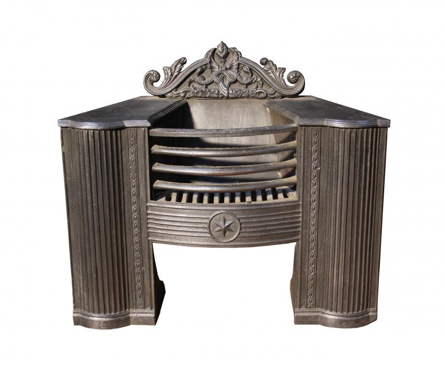 A Georgian cast iron hob grate