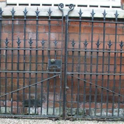 pair victorian wrought iron drive gates