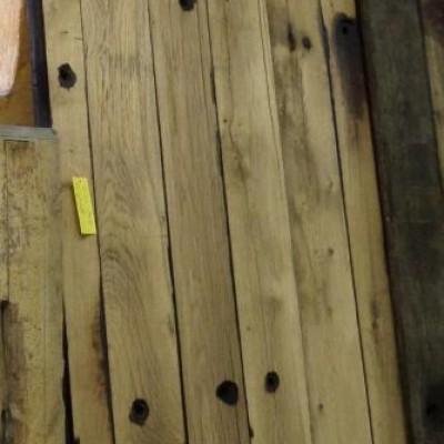 Oak Planks planed down 13 cm x 268 cm x 4,5 cm