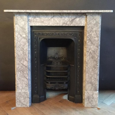 Georgian Style Grey Marble Fireplace Surround