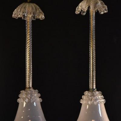 pair murano glass pendant shades
