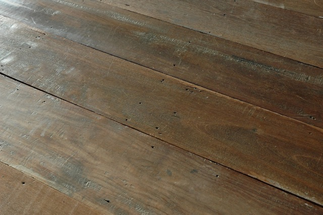 Reclaimed keruing plank flooring