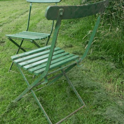 antique english garden or park chairs