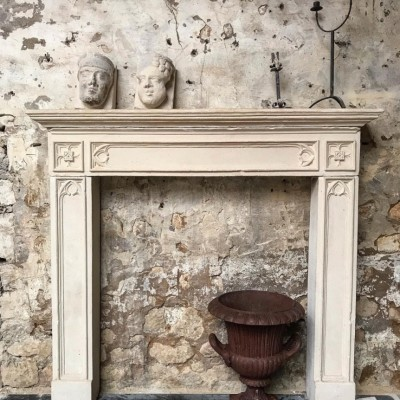 Reclaimed Reconstituted Stone Gothic Revival Fireplace
