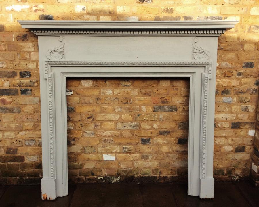 For sale reclaimed wooden antique edwardian fire surround for Demolition wood for sale