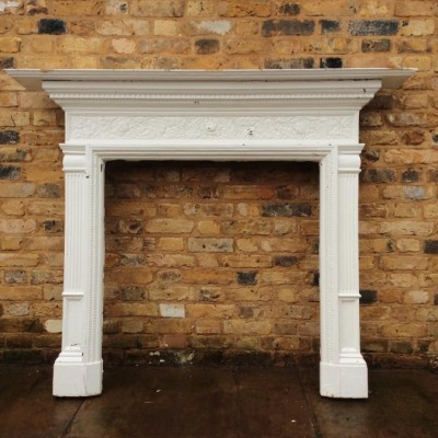 Antique Coalbrookdale Cast Iron fire surround