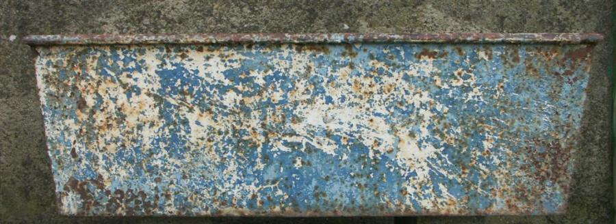 Antique cast iron trough
