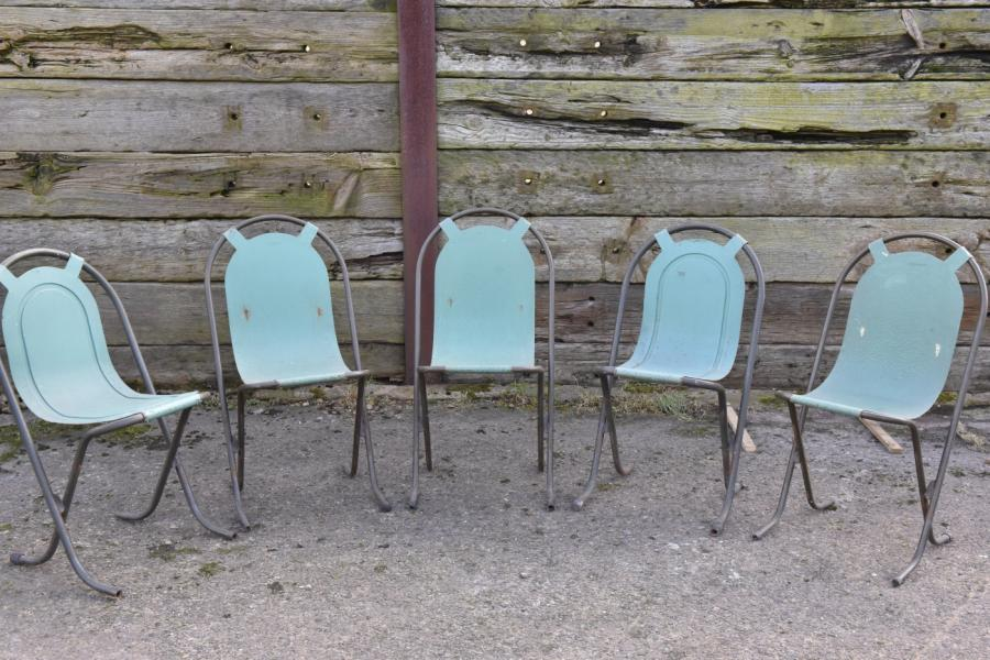 stak-a-bye chairs by sebel x 5