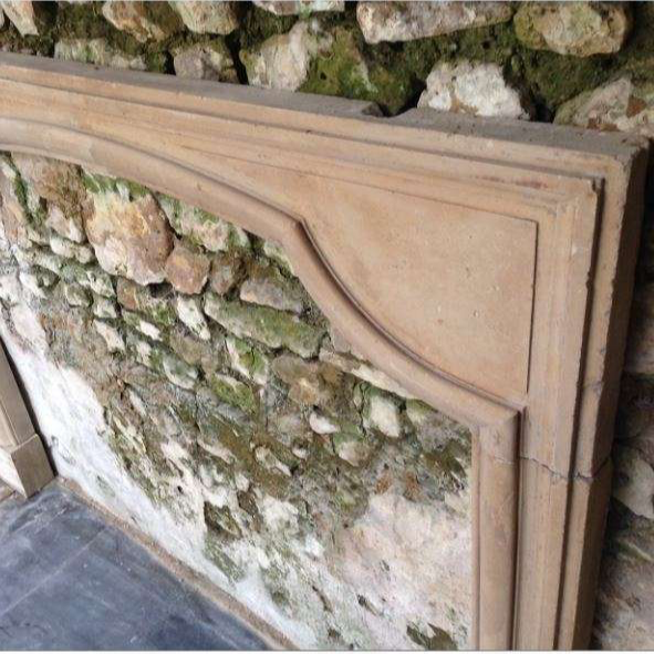 Antique French Stone LXIV Fireplace