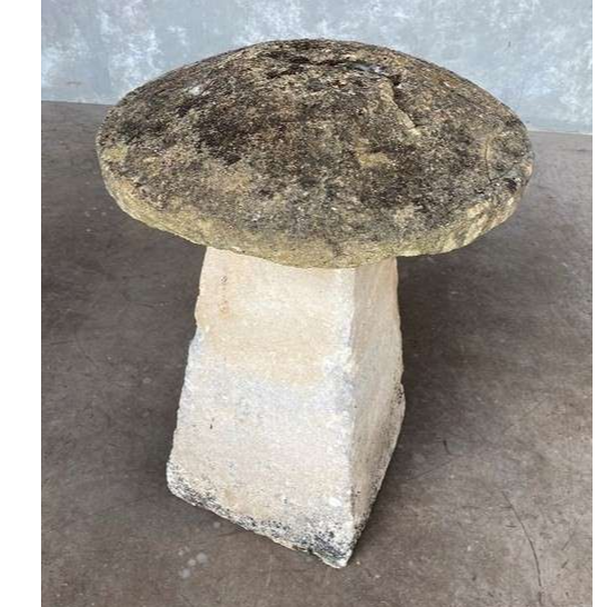 Antique Old Garden Hand Carved Reclaimed Staddle Stone