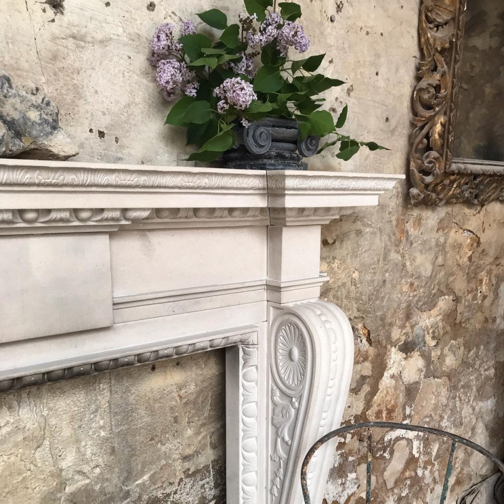 Reclaimed Portland Stone Fireplace In The Late Georgian Style