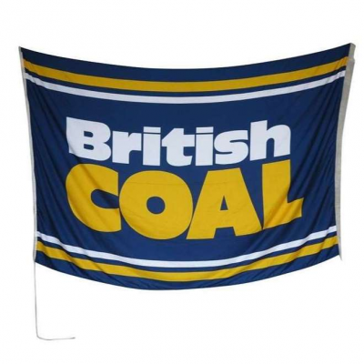Original British Coal Flag From Kellingley Colliery