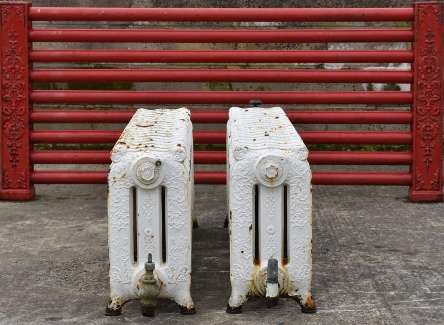 long low decorativer pair radiators-rare