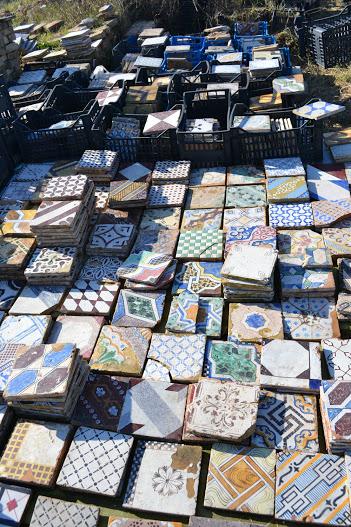 For Sale Antique Italian ceramic tiles- SalvoWEB Italy