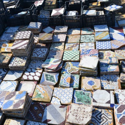 Antique Italian ceramic tiles