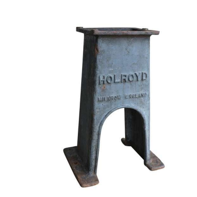 Original Antique Cast Iron Industrial Holroyd Table Base